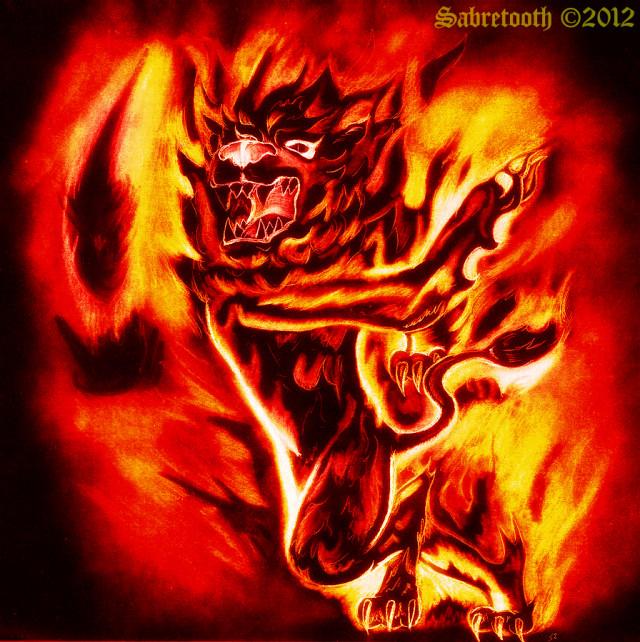 Fire Lion Elemental